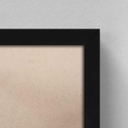 Cadre Bois Noir complet | 56x71