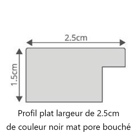 Profil cadre bois noir